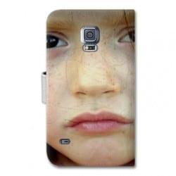 Etui rabattable personnalisé pour Samsung Galaxy S5
