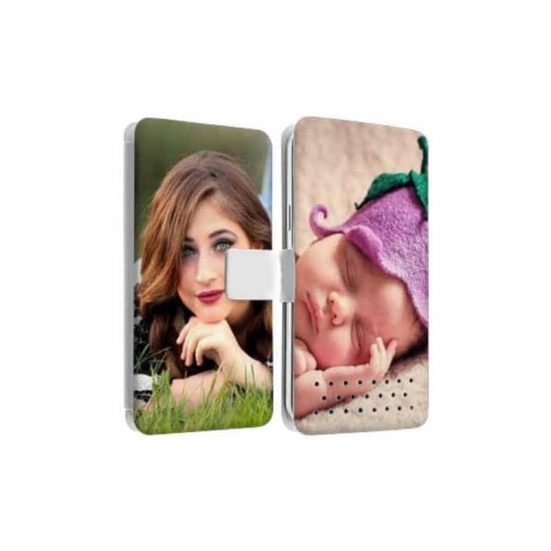 Etui Rabattable à personnaliser RECTO VERSO HTC One Mini (M4)