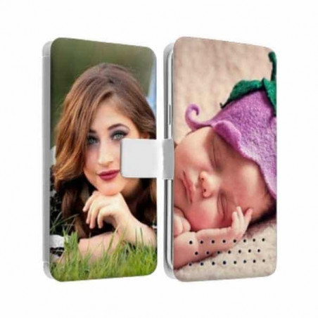 Etui Rabattable à personnaliser RECTO VERSO Samsung Galaxy CORE PRIME (SM-G360)