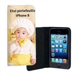 Etui rabattable personnalisé pour iPhone 8
